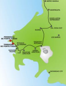 Map to Punta Fuego